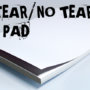No Tear Pad, XL, 8.5 X 11, Tear/No Tear Alternating/ 50 by Alan Wong