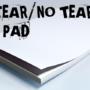 No Tear Pad, XL, 8.5 X 11, Tear/No Tear Alternating/ 50 by Alan Wong