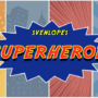 Svenlopes SUPERHEROES, 4 x 6 Black by Sven Lee